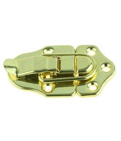 """Brass Plated Draw Catch w/ Screws - 2 3/4"""""""