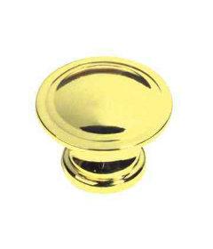 """Polished Brass with Ridge Knob - 1-1/8"""""""