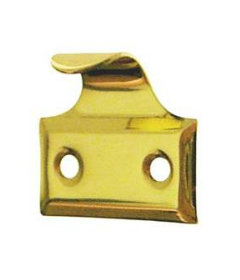 Lacquered Brass Hook Sash Lift