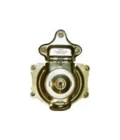 Brass Plated Steel Flush Mount Spring Loaded Trunk Lock With Keys