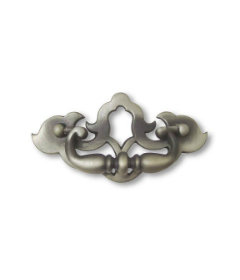 """Antique Pewter Drop Bail Pull Centers: 3-1/2"""""""