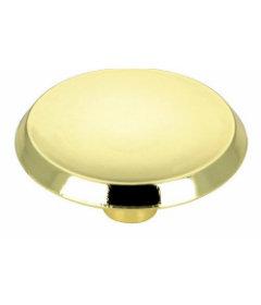 """Bright Brass Mid Century Retro Concave Knob 1-3/4"""""""