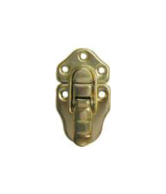 Brass Plated Stamped Steel Small Flush Mount Trunk Drawbolt
