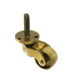 Antiqued Brass Furniture Stem and Plate Caster