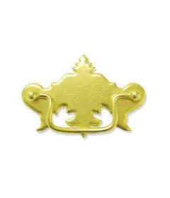 """Stamped Distressed Brass Bail Pull  Centers 3"""""""