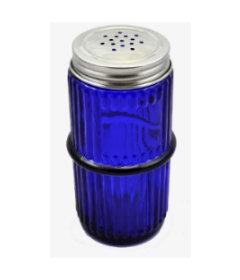 Blue Mission Ringed Spice Jar