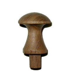 """Walnut Shaker Knob 1-1/8"""""""