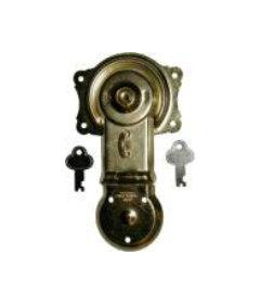 Brass Plated Steel Flush Mount Trunk Lock With Keys