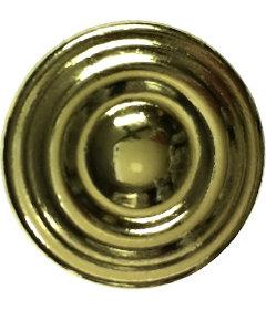 "Brass Concentric Circles Knob  1-1/8"""