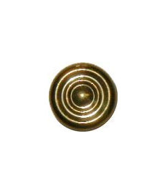 """Early American Turned Polished Brass Knob 7/8"""""""