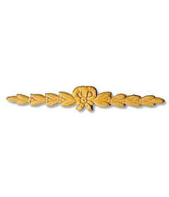 "Decorativ Center Ribbon Bow Oak Applique - 9 1/2"" x 1 1/2"""