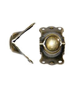 "Antique Brass Trunk Knee 1 1/2"" Wide"