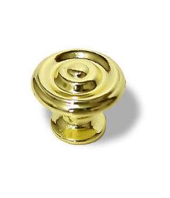 "Polished Brass Concentric Knob 1 1/8"""