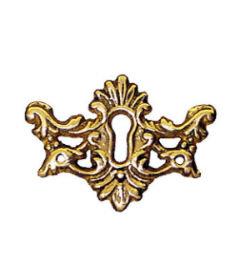 Antique Reproduction Victorian Cast Brass Keyhole Escutcheon