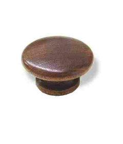 "Wood Dark Brown Drawer Knob 1-1/2"""