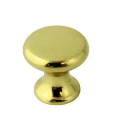 """Solid Cast Brass Classic Small Knob 3/4"""""""