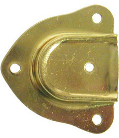 "Brass Plated Stamped Steel Cap Style Trunk Handle Loop 2-1/4""long x 2-9/16""wide"