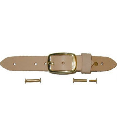 Natural Leather Trunk Buckle Assembly