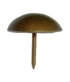 "French Natural Finish Large Plain Dome Head Tacks 15/16"" Diameter + 5/8"" Long"