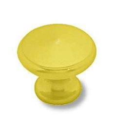 "Brass Plated Knob 1-3/16"""