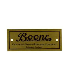 "Boone Campbell-Smith-Ritchie Cabinet Label-2 1/4"" Wide x 3/4"" High"