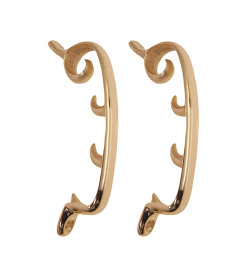"""Brass Plated Morris Chair Brackets 6 5/8"""" Long"""
