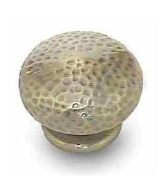 """Antique Hammered Bronze Knob 1 1/2"""""""