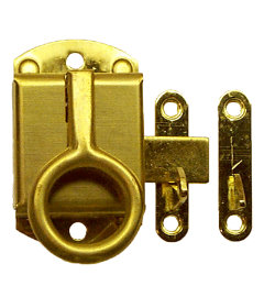 Stamped Brass Wilson Left Cabinet Ring Latch