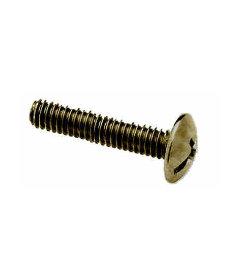 """Antique Brass Truss Head Screw 8-32 Thread X 1-1/4"""" Long"""