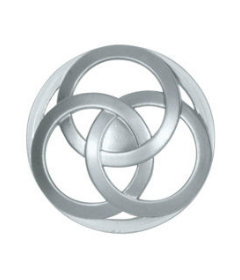 Aluminum Interlocking Circles Knob 1-1/2""