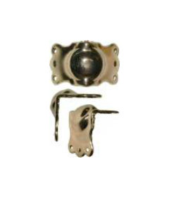 Brass Plated Stamped Steel Large Trunk Knee Clamp