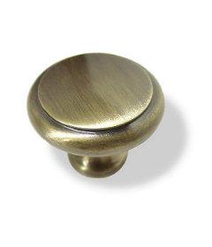 """Antique Brass Perimeter Knob 1-1/8"""""""