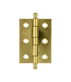 "Brass Plated Steel Butt Hinge - 2"" High x 1 3/8"" Wide"