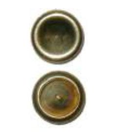 "Brass Plated Stamped Steel Split Rivet Caps-3/8""diameter"