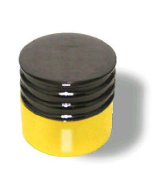 """Black Chrome And Solid Brass Two Tone Knob 1"""""""