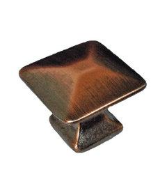 "Antique Copper Mission Pyramid Knob 7/8"""