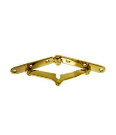 """Brass Plated Drop Front Desk Hinges - 7"""" Long x 3/4"""" Wide"""