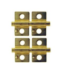 """Brass Mirror Support Set 2"""" x 1 1/4"""""""