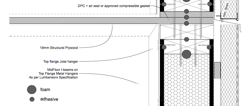 Midfloor Detail SIP wall Timber Floor