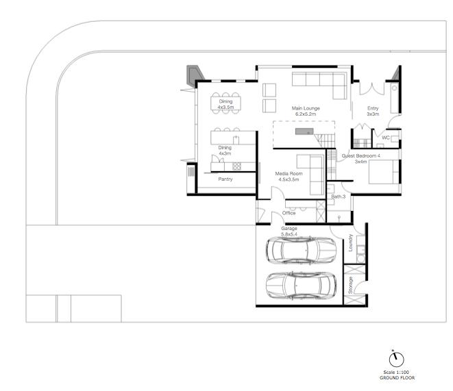 Corner Residence GROUND FLOOR