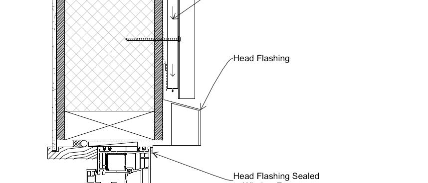 Window Head Rebated PVC