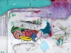 Frutitas, 2020, multimedia painting with