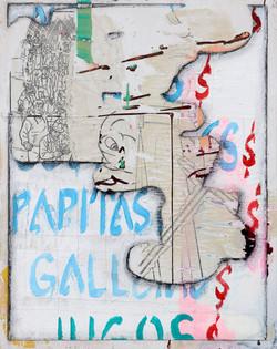untitled 2, 2020, multimedia painting on
