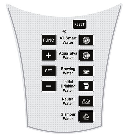 AquaTatva Neer 3 Alkaline Water Ionizer Screen Display