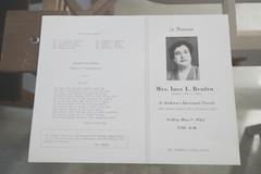 Inez Renfro Funeral Program