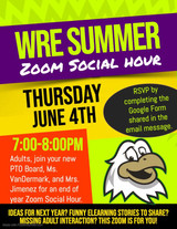 WRE Summer Zoom Social Hour