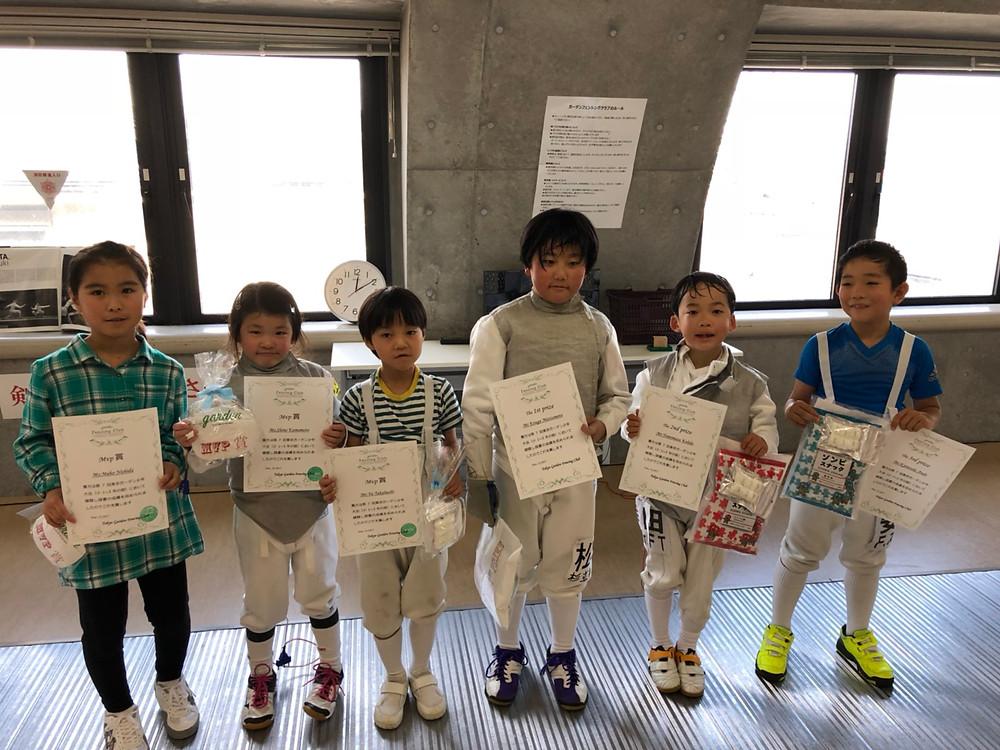 小学1~3年の部 入賞者