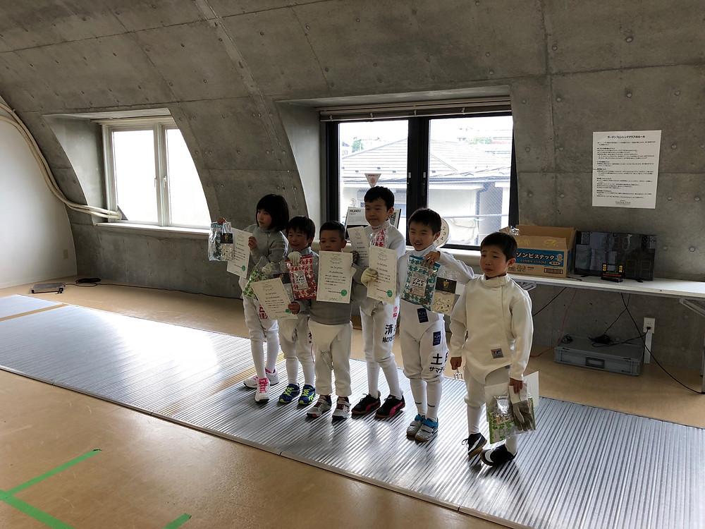 低学年サーブル・エペ参加者/入賞者