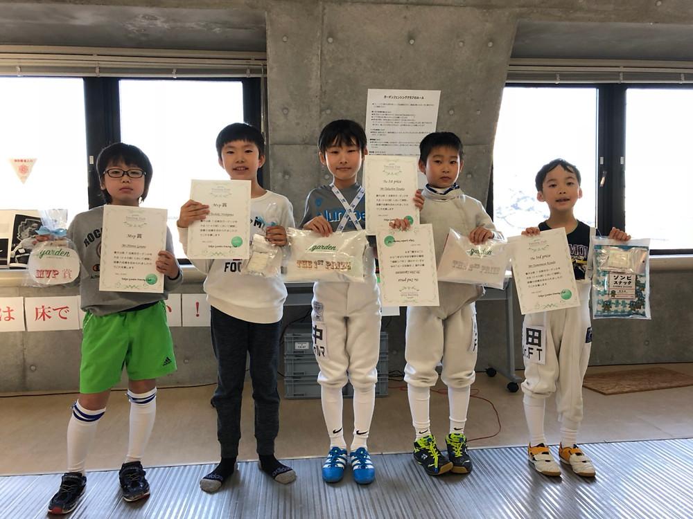 小学4年の部 入賞者