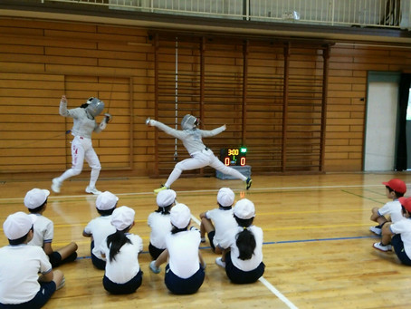 フェンシング体験授業@小学校